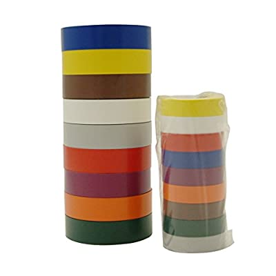 3M Scotch 35-P Electrical Tape Rainbow Packs (20 ft. long) / Available in multiple widths