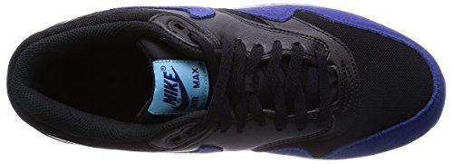 Nike WMNS Air Max 1 Essential, Sports Shoes, Women Blk/Dp Ryl Bl-Td Pl Bl-Pr Pltn