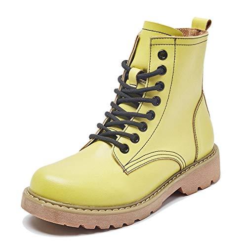 QPDUBB Botas de Mujer Botas Mujer Zapatos De Cuero Genuino para ...