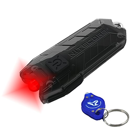 Nitecore Tube RL USB Rechargeable Red LED Keychain Light plus LumenTac LED Keychain Flashlight, Astronomy StarGazing, Map reading