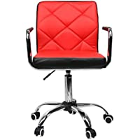Magshion Extra Comfort Adjustable Swivel Home Computer Office Desk Task Chair Red