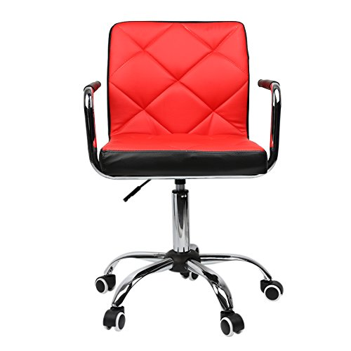 Extra Comfort Adjustable Swivel Home Computer Office Desk Task Chair (Red) Review