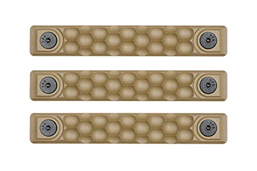 RailScales High Temp Polymer HTP Scales - Multiple Options (KeyMod 3 Pack, Honeycomb FDE Tan)
