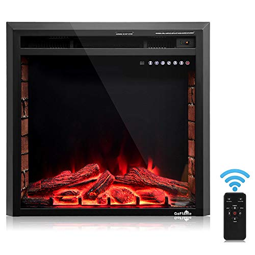 Cheap Thaweesuk Shop Black 26 750W-1500W Fireplace Heater Electric Embedded Insert Timer Flame Remote Metal Tempered Glass Resin Charcoal 26 x9 x24.5 (LxWxH) of Set Black Friday & Cyber Monday 2019