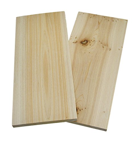 Wood Grilling Planks Cedar Wood Grilling Plank 2 Piece Pack 12 X 5.25 X 0.5 Inches Beige by Zeckos