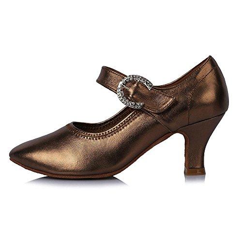 YFF Neue Marke Modern Dance Schuhe für Damen Ballroom Tango Latein tanzen die Schuhe Frauen Modern Dance Schuhe 58mm heel 30715