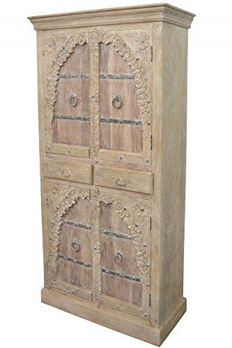 Orientalischer Grosser Schrank Kleiderschrank Belen 190cm Hoch |  Marokkanischer Vintage Dielenschrank Schmal | Orientalische Schränke Aus
