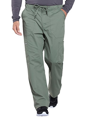 Cherokee WW Professionals WW190 Men's Tapered Leg Drawstring Cargo Pant Olive M ()