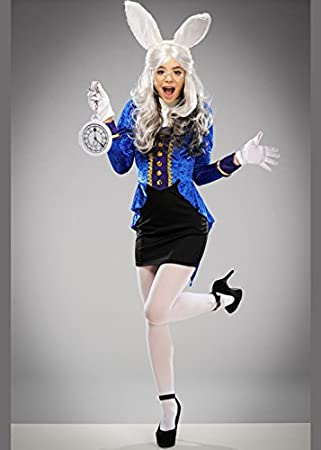 Magic Box Disfraz de Conejo Blanco Wonderland Lindo de Las Mujeres ...
