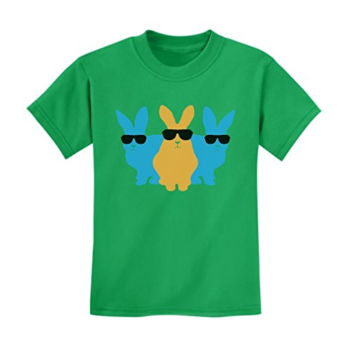 TeeStars Hip Trio Bunnies Shades Funny Hipster Easter Bunny Kids T-Shirt Small - Hipster Shades