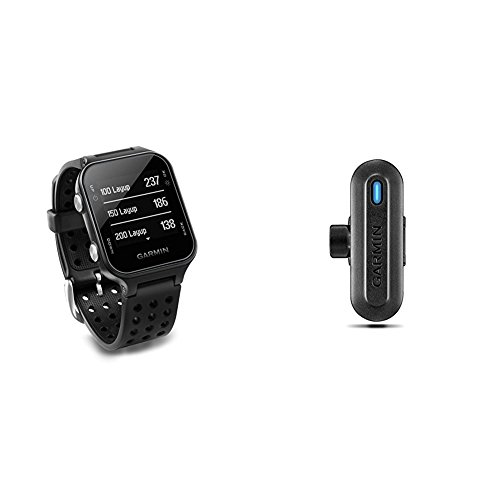 Garmin Approach S20 Golf Watch - Black and TruSwing Golf Club Sensor Bundle