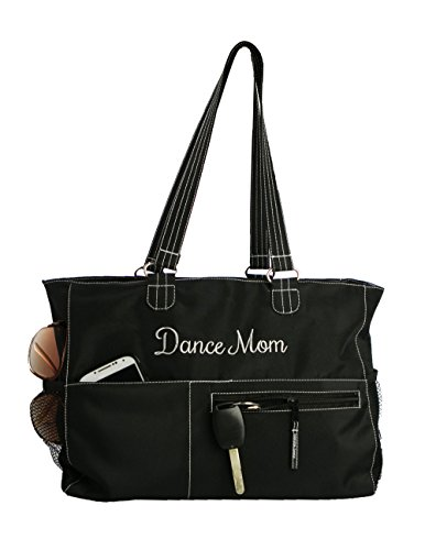 Horizon Dance 2000 Dance Mom Embroidered Black Dance Tote Bag - Dance Competition Costume Bags
