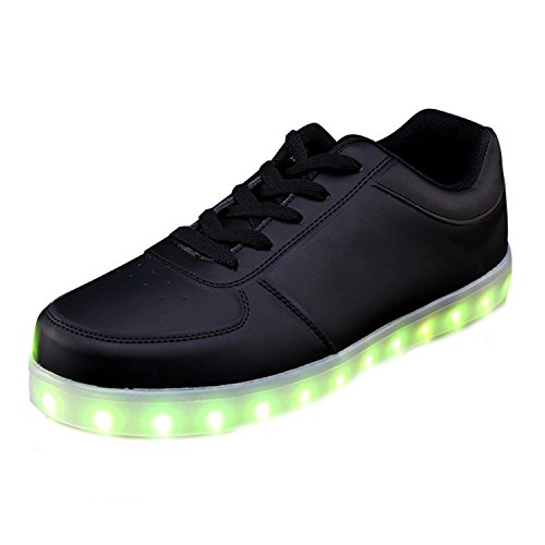 Luz Zapatos Luminosas Unisex Zapatillas junglest De Negro Toalla Low 7 a USB de LED Presente Cut Peque Colors Carga Flash qOOwRv