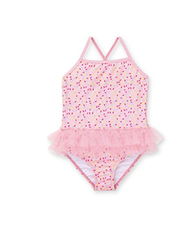 (Healthtex Toddler Girl One Piece Tutu Swimsuit Pink Gumball(Size: 2T))