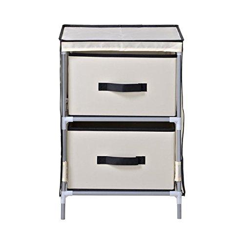Homestar Beige Fabric 2-drawer Dresser