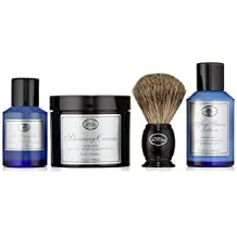 The 4 Elements of The Perfect Shave Full-Size Kit - Ocean Kelp by The Art of Shaving for Men - 4 Pc Kit 2oz Pre-Shave Gel, 5oz Shaving Cream, 3.3oz After-Shave Lotion, Shaving Brush