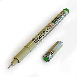 Sakura Pigma Micron - Pigment Fineliners - 0.2mm - Green [Box of 12]
