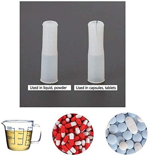 Lote de 3 medicamentos para perros y gatos herramienta de distribuci/ón de p/íldoras para jeringas con boquilla de silicona para animales dispensador de pastillas para animales dom/ésticos IWBI