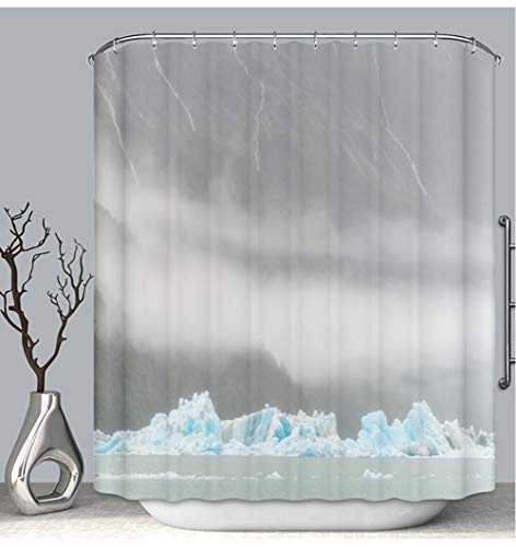 BEICICI Color Shower Curtain Liner Anti-Mildew Antibacterial Icebergs in Argentino Lake Perito Moreno Glacier Patagonia Argentina Custom Shower Curtain Bathtub Bathroom Accessories 54W×78Linch (6042 Bathtub)