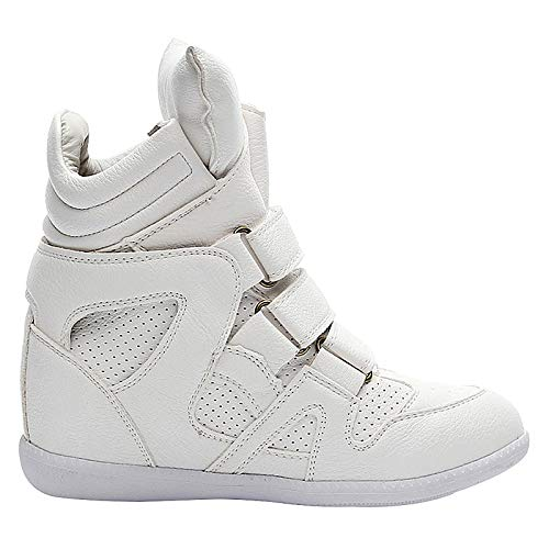 Vaca White Fashion Heel Negro Boots de Comfort Primavera Mujer Piel Zapatos de Wedge Sneakers ZHZNVX de Blanco de qafYw1T