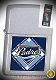 22677 MLB san Diego Padres Lighter with Flint Pack - Premium Lighter Fluid (Comes Unfilled) - Made in USA!