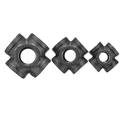 Femelle DyNamic Raccord De Tuyau En Fonte Mall/éable Noir /À Double Sortie 1//23//4 16