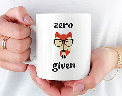 - Zero Fox Given Mug, Funny Fox Coffee Mug, Fox Mugs, Cute Fox Mug, Fox Coffee Cup, For Fox Sake Mug, Funny Mug for Friend, Cool Fox Mug,11 oz