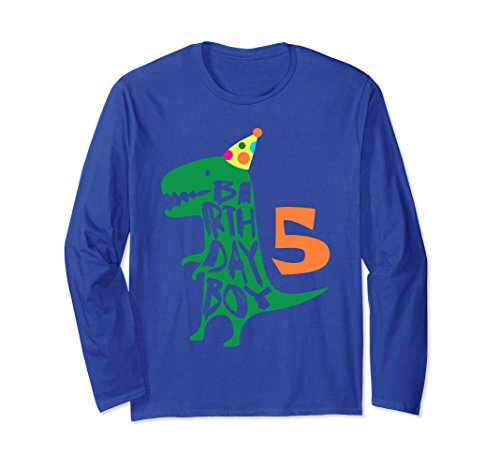 Unisex Birthday Boy 5 Long Sleeve Tee