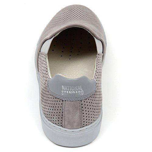 scarpa slip uomo STANDARD grigio man shoe on Grigio sneaker D0164 NATIONAL RZgTIqq