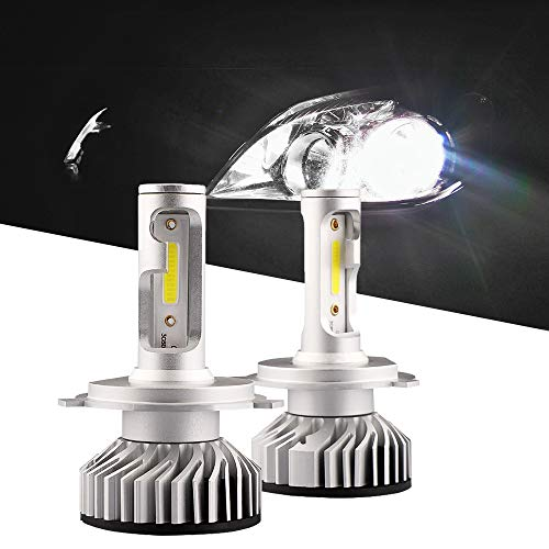 H4 9003 LED Headlight Bulbs, Sushiyi Gear 50W 8000LM Lo/Hi Beam Headlamp Extremely Bright DOB Chips Headlight Kit, Xenon White 6500K - 2 -