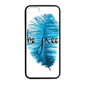 SUUER Rubber Silicone Custom Be Free Designer Personalized Custom Plastic Rubber Tpu CASE for iPhone 5 5s Durable Case Cover