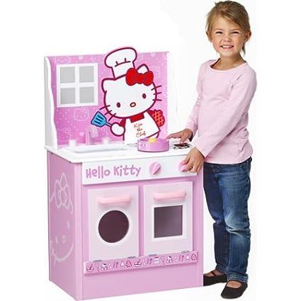 Amazon Com Hello Kitty Kids Pretend Classic Kitchen Play Set Toys