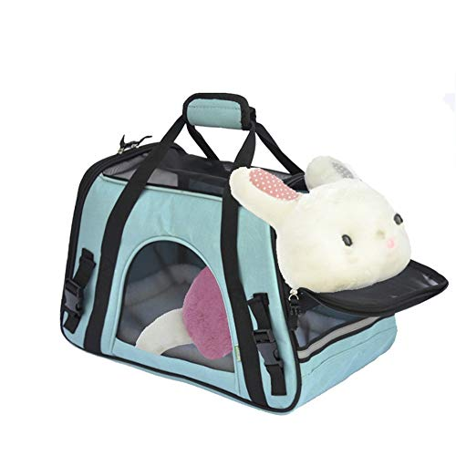 Soft Pet Carrier Medium Pet Carrier Tote Around Town Pet Carrier Portable Dog Handbag Dog Purse for Outdoor Travel Walking Hiking for Travel, Hiking, Outdoor Use (Color : Blue)