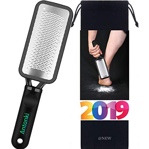 Colossal Foot Scrubber Foot File Useful Professional Pedicure Rasp Callus Remover Skin-friendly Foot File for Trimming Dead Skin, Callus, Foot Corn, Cracked Heels (with Carrying Pouch)