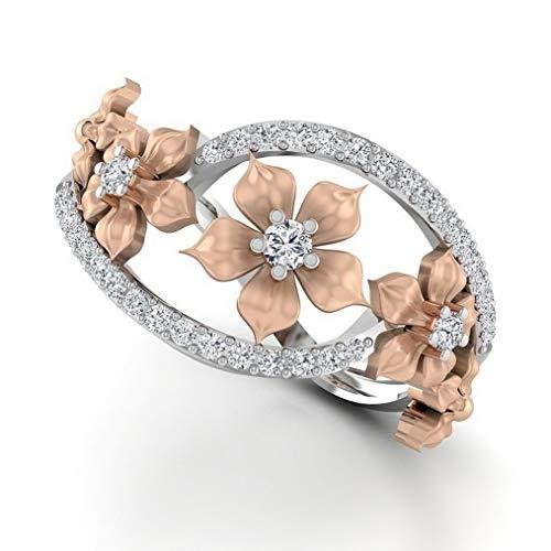 Waldenn Elegant White Topaz 925 Silver Ring Daisy Flower Woman Wedding Gift Size 6-10 | Model RNG - 14444 | 3