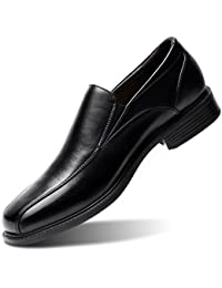 Men's Black Slip-On Loafer Classic Formal Leader Dress Shoes