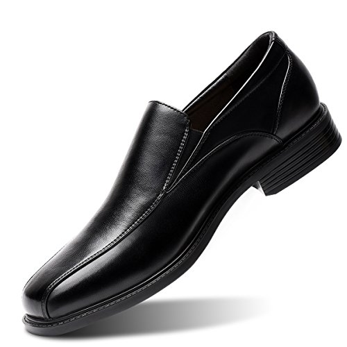 Men's Black Slip-On Loafer Classic Formal Leader Dress Shoes 10 D (M) US