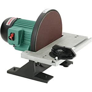 Grizzly g7297 disc sander 12 inch power disc sanders for 10 sanding disc for table saw