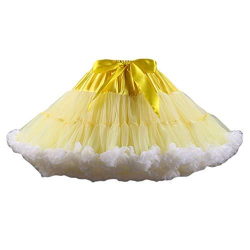 Jupe Tutu Varies en Tulle Image en Tulle Comme Ballet Tutu Femme Jupon 8 Court Ballet Pettiskirt Couleurs YAANCUNN YCq8w