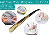 Shoe Horn Made with Real Horn Handmade. Easy Grip