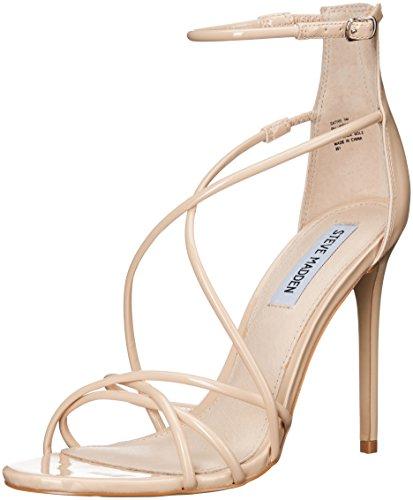 Steve Madden Women's Satire Dress Sandal, Nude Patent, 7.5 M US