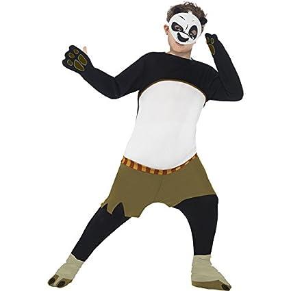 Smiffys - Kung Fu Panda Po traje para niños, color blanco y ...
