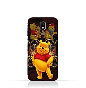 Samsung Galaxy J7 2017 TPU Silicone Protective Case with Winnie the Pooh Design