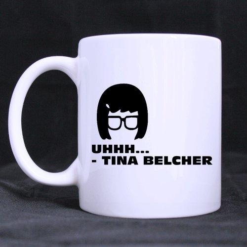 Top Funny cartoon - UHHH... - TINA BELCHER Theme Coffee Mug or Tea Cup,Ceramic Material Mugs,White - 11oz