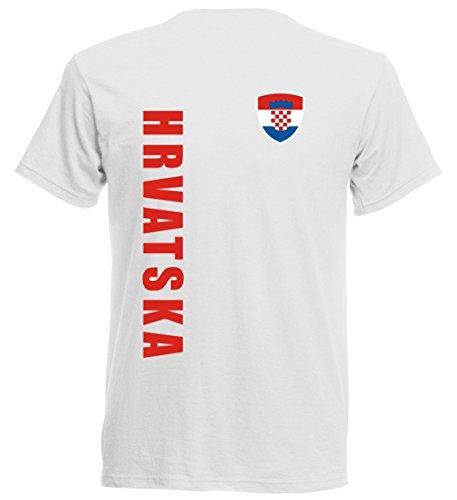 Kroatien EM 2016 T-Shirt Trikot - S M L XL XXL - weiss 10