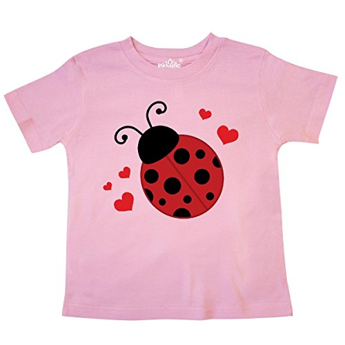 - inktastic - Lady Bug and Hearts Toddler T-Shirt 4T Pink 20e4f