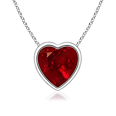 Angara Natural Ruby Bezel-Set Pendant in Platinum CrEP7f