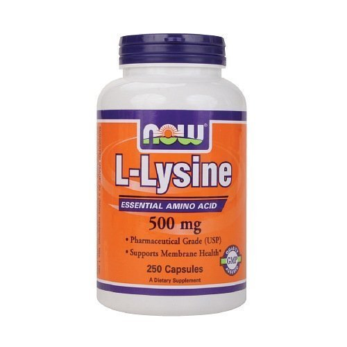 NOW Foods L-Lysine, 500mg, Capsules 250 ea by NOW