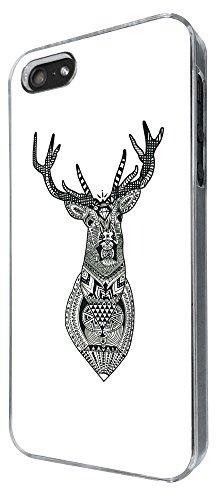 835 - Aztec Deer Head Design iphone 5 5S Coque Fashion Trend Case Coque Protection Cover plastique et métal