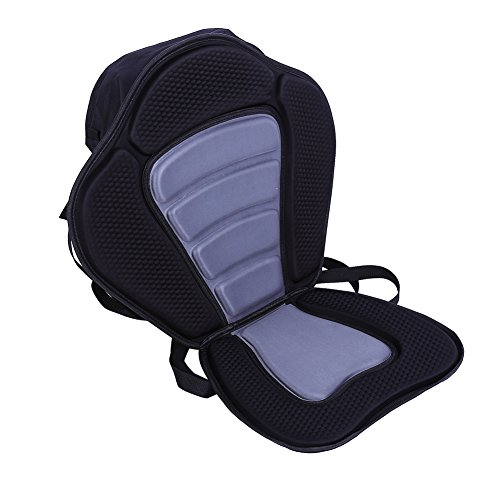- Estink Kayak Seat, New Deluxe Adjustable Padded Kayak Seat Back with Detachable Back Bag Canoe Backrest, Black